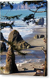 Acrylic Print featuring the photograph Ruby Beach Iv by Jeanette C Landstrom