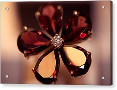 Ruby Ring. Spirit Of Treasure Acrylic Print by Jenny Rainbow