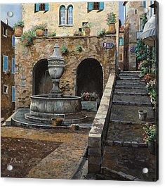 Rue Du Bresc A St Paul De Vence Acrylic Print by Guido Borelli