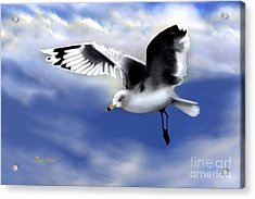 Acrylic Print featuring the digital art Ruffled Feathers by Dale   Ford