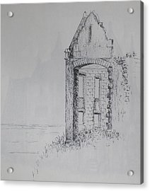 Acrylic Print featuring the drawing Ruin by Sheep McTavish