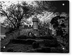 Ruins Of Warwick In Black And White Acrylic Print by Laura George