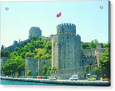 Acrylic Print featuring the painting Rumeli Hisar by Lou Ann Bagnall