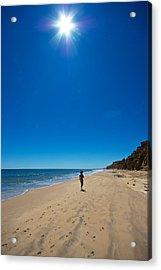 Run On The Beach Acrylic Print by Mike Horvath