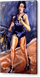 Runner Acrylic Print by Les Leffingwell