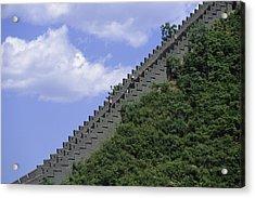 Runners In The Great Wall Marathon Acrylic Print by Michael S. Yamashita