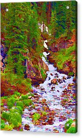 Acrylic Print featuring the digital art Runoff by Brian Davis