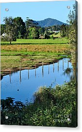 Rural Landscape After Rain Acrylic Print by Kaye Menner
