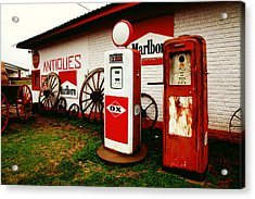 Rural Roadside Antiques Acrylic Print by Toni Hopper