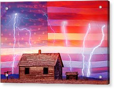 Rural Rustic America Storm Acrylic Print by James BO  Insogna