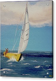 Rush To Shore Acrylic Print by Anthony Ross