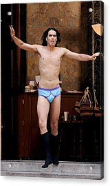 Russell Brand, Performs A Scene Acrylic Print by Everett