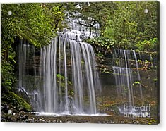 Russell Falls Acrylic Print by Raoul Madden