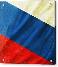 Russia Flag Acrylic Print by Setsiri Silapasuwanchai