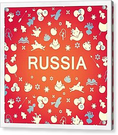 #russia #poster #folklore #fairytale Acrylic Print