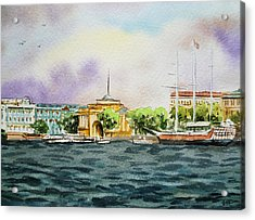 Russia Saint Petersburg Neva River Acrylic Print by Irina Sztukowski