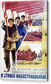 Russian Agitprop Poster Of 1930 Acrylic Print by Ria Novosti