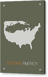 Russian America Poster Acrylic Print by Naxart Studio
