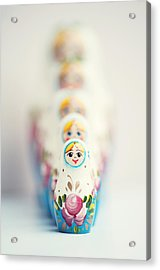 Russian Dolls Acrylic Print by Images by Christina Kilgour