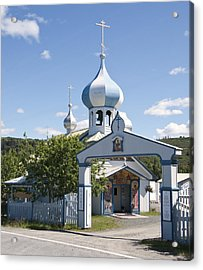 Russian Orthodox Church Acrylic Print by George Hawkins