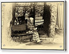 Acrylic Print featuring the photograph Russian Woman In Park by Rick Bragan
