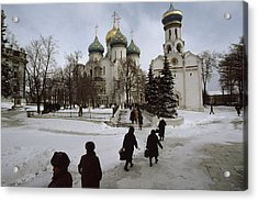 Russian Women, Dressed In Black, Walk Acrylic Print by James L. Stanfield