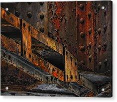Rust And Oxydation Acrylic Print by Joachim G Pinkawa