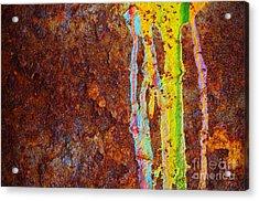 Rust Background Acrylic Print by Carlos Caetano