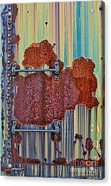 Rusted Art Acrylic Print by Susan Candelario