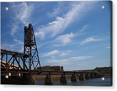 Acrylic Print featuring the photograph Rusted Bridge by Stephanie Nuttall