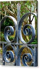 Rusted Charleston Ironwork Acrylic Print