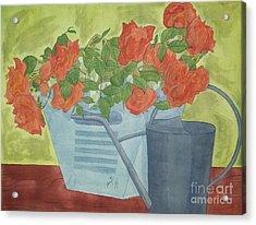 Rustic Garden  Acrylic Print by Jennifer Taylor Rogerson