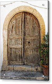 Rustic Gates Acrylic Print by Paul Cowan