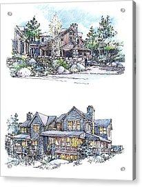 Rustic Home Acrylic Print