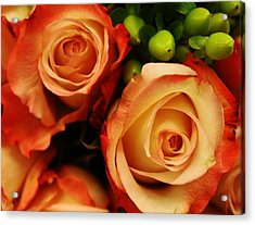 Rustic Roses Acrylic Print by Bruce Bley