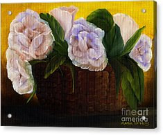 Rustic Roses Acrylic Print by Maria Williams