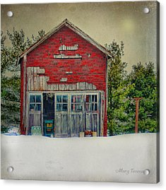 Rustic Shed Acrylic Print by Mary Timman