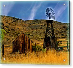 Rustic Windmill Acrylic Print by Marty Koch