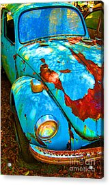 Rusty Blue Acrylic Print by Kendra Longfellow