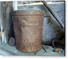 Rusty Bucket Acrylic Print