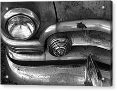 Rusty Cadillac Detail Acrylic Print by Lyle Hatch