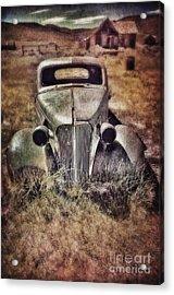 Rusty Car  Acrylic Print by Jill Battaglia