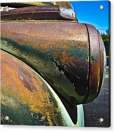 Rusty Dodge Lights Acrylic Print