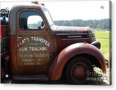 Rusty Old 1935 International Truck . 7d15496 Acrylic Print by Wingsdomain Art and Photography