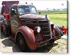 Rusty Old 1935 International Truck . 7d15498 Acrylic Print by Wingsdomain Art and Photography
