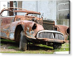 Rusty Old American Car . 7d10347 Acrylic Print by Wingsdomain Art and Photography