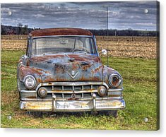 Acrylic Print featuring the photograph Rusty Old Cadillac - Torcwori by Peter Ciro