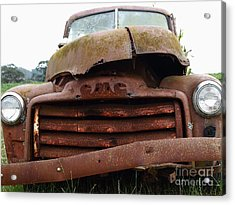Rusty Old Gmc Truck . 7d8396 Acrylic Print by Wingsdomain Art and Photography