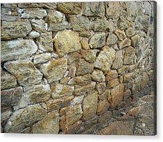 Rusty Stone Wall Acrylic Print