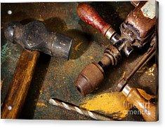 Rusty Tools Acrylic Print by Carlos Caetano